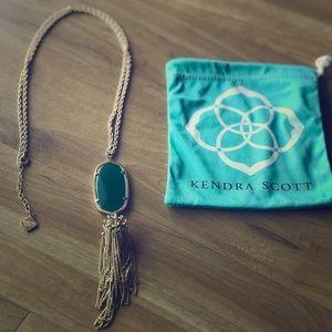 Long Pendant Rayne Necklace Emerald Green